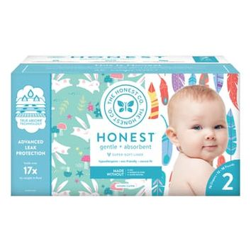 The Honest Company Painted Feathers/Bunnies Size 2 Club Box Diapers | Nordstrom