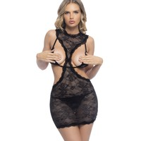 Open Cup Lace Chemise