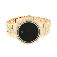 Touch Screen Smart Watch 14k Rose Gold Finish