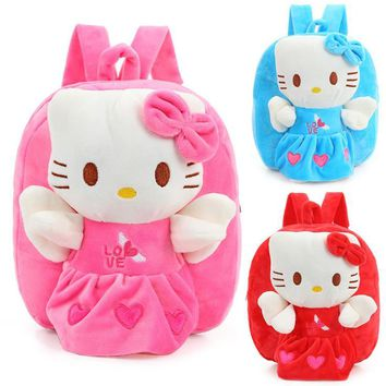 Hello Kitty Toddler Kids Children Boy Girl Cartoon Backpack Schoolbag Shoulder Bag Plush Toy Bag