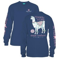 *Closeout* Simply Southern Long Sleeve Tees-  Llama