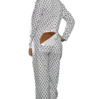 Playboy Onsies Pajamas- Open bottom jammies-drop seat (Small)