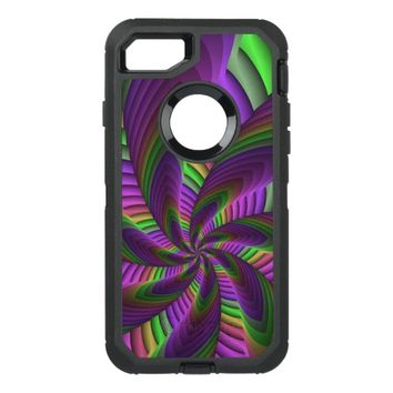 Neon Colors Flash Crazy Colorful Fractal Pattern OtterBox Defender iPhone 8/7 Case