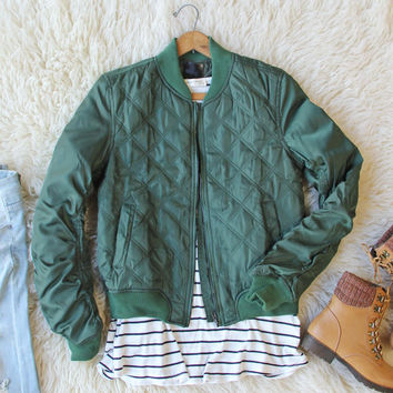 The Bomber Jacket in Olive