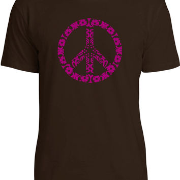 Flower Power (Pink) Mens Fine Jersey T-Shirt