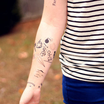 Louis Tomlinson Inspired Temporary Tattoos