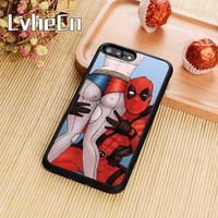 Deadpool Dead pool Taco LvheCn Harley Quinn  Suicide Squad Phone Case Cover For iPhone 5s SE 6 6s 7 8 plus 10 X Galaxy S5 S6 S7 edge S8 S9 plus AT_70_6