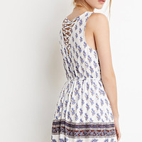 Crisscross-Back Floral Dress