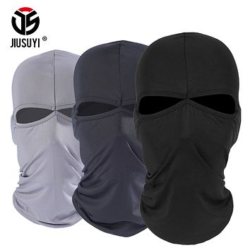 2 Hole Balaclava Full Face Mask Windproof Combat Hats Cap Tactical Airsoft Bicycle Paintball Helmet Liner Protection Men Women