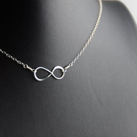All Sterling Infinity Necklace, infinity jewelry, minimalist jewelry, sterling jewelry, dainty necklace