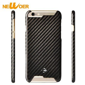 Carbon Fiber Phone Cases For iPhone 6 Plus 6s Plus 6plus Case Cell Phone Hard Back Shell NEWOER