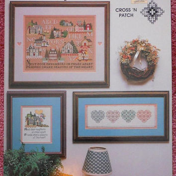Vintage Cross Stitch Pattern, Seasons of the Heart Pattern Booklet 1989 Cross 'n Patch Booklet