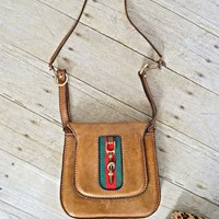 Vintage 1960s Gucci-Esque + Horsebit Leather Bag