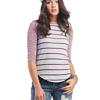 Striped Raglan Tee | Wet Seal