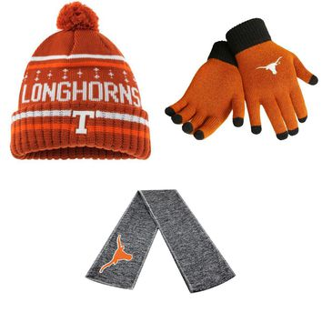 Licensed Glove Solid Knit Barometer Beanie Hat And Hail Scarf 08302 KO_19_1