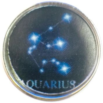 Aquarius Zodiac Star Constellation Cosmos Horoscope Symbol  18MM - 20MM Charm for Snap Jewelry New Item