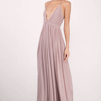 Jamee Plunging Maxi Dress