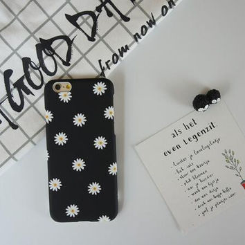 Beautiful little daisy phone case for iPhone 6 6S 6plus 6Splus 1008J01