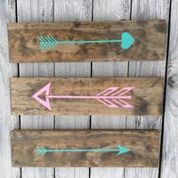 Set of 3 Rustic Arrows - Tribal Decor - Arrow - Wood Arrow Signs - Rustic Decor - Signs