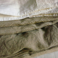 Stonewashed linen pillowcase white linen pillowcase linen lace linen bedding wedding bedding linen