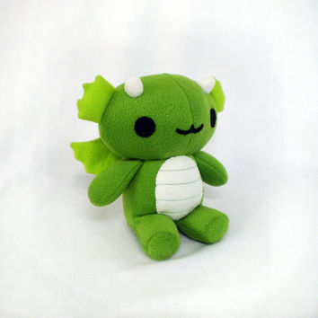 Green Dragon Stuffed Plush Toy Animal