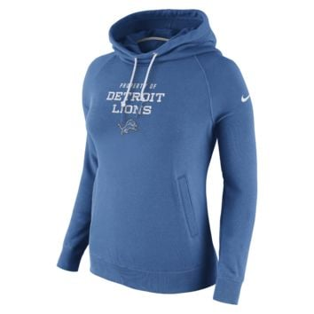 Nike Stadium Rally Funnel Pullover (NFL Lions) Women's Hoodie