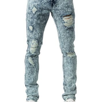 Roland Tapered Jeans - Acid Blue Bleach