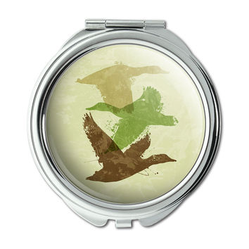 Ducks Flying Design Hunting Hunter Camo Compact Purse Mirror