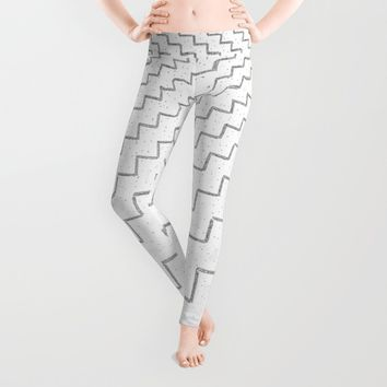 speckled zigzag Leggings by RichCaspian