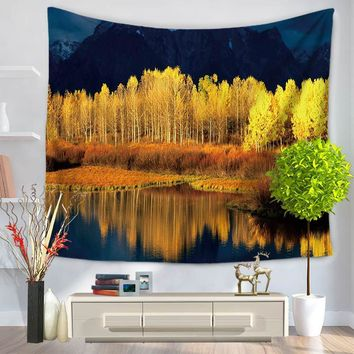 Colorful Scenic Romantic Print India Thailand Wall Tapestry Polyester 130*150/150*200cm Carpet Decorative Blankets
