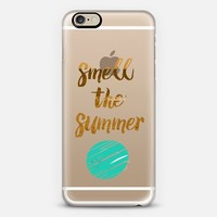 SMELL THE SUMMER - CRYSTAL CLEAR PHONE CASE iPhone 6 case by Nika Martinez | Casetify