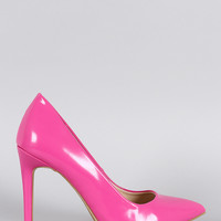 Anne Micelle Patent Pointy Toe Pump