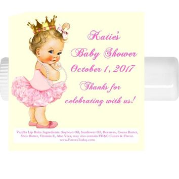 15 Princess Baby Shower Lip Balm Favors Light Skin