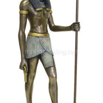 Anubis Egyptian God Statue Bronze Finish 15H