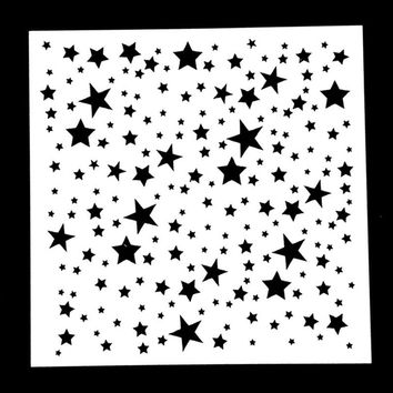 1PC Twinkle Star Shaped Reusable Stencil Airbrush Painting Art DIY Home Decor Scrap booking Album Crafts