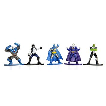 Jada Nano Figures DC Wave 2- 5 Pack B- Brainiac Lobo Darkseid Batman Bizarro