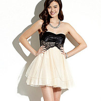 Teeze Me Strapless Lace Corset Dress | Dillards.com