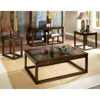 Steve Silver Furniture Alberto Coffee Table Set - Walmart.com