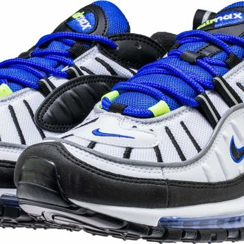 Air Max 98 White Black Racer Blue
