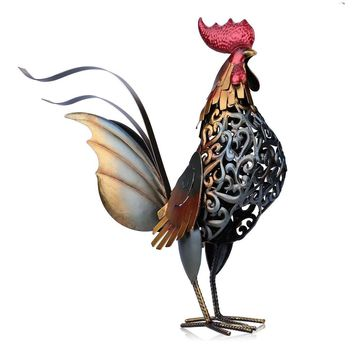 Metal Figurine Iron Rooster
