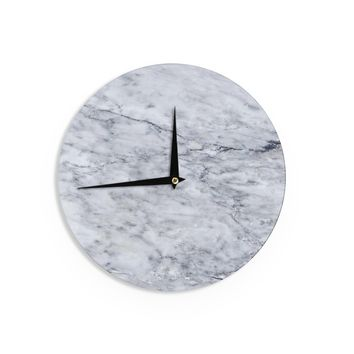 "Chelsea Victoria ""Marble"" Blue Black Wall Clock - Outlet Item"