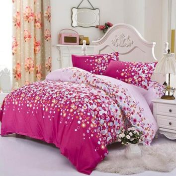 2015 winter 3/4pcs bedding-set bedding set king size bed sets sheets duvet cover linens colcha de cama no cotton comforter 070