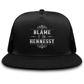 Blame It On Hennessy Henny Lover Snapback Hat