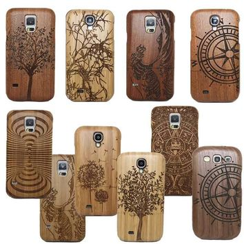 Unique Carved Wood Phone Case for Samsung