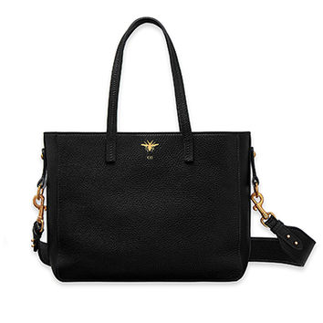 """""""d-bee"""" shopping bag in black grained calfskin - Dior"""