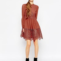 ASOS Lace Babydoll Swing Dress at asos.com