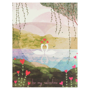 Valentine Swans Greeting Card