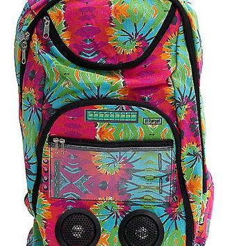 Selfie Remote w/ Tie Dye Swirl Audio Backpack - Spencer's