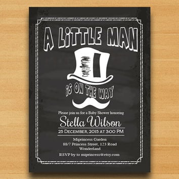 shop little man mustache invitations on wanelo, Baby shower invitations