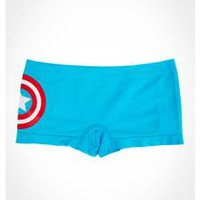 Captain America Blue Seamless Boyshorts
